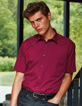 Men`s Poplin Short Sleeve Shirt