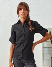Ladies` Roll-Sleeve´ Poplin Blouse